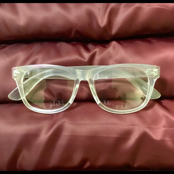 3bf94a202d UO TRENDY OPAQUE IRIDESCENT GLASSES W CLEAR LENSES